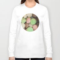 macaroons Long Sleeve T-shirts featuring French Macaroons by Laura Ruth