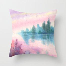 Enchanted Lake Throw Pillow