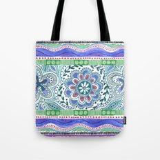 Aqua Bloom Tote Bag