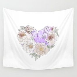 bird of paradise 2 , paradisebirds , simple floral graphic design , gift for gardener Wall Tapestry