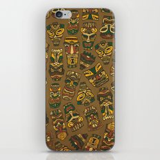 Tiki Masks iPhone & iPod Skin