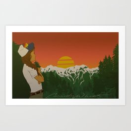 This is When Rocky Mountain Dreams Come True. Art Print