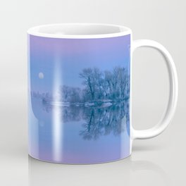 Winter River Moon Coffee Mug