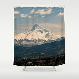Mountain Valley Pacific Northwest - Nature Photography Shower Curtain