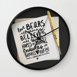 Love Bears All Things Wall Clock