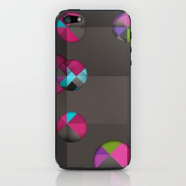 optical illusion black iPhone Skin