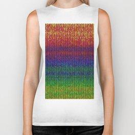 Rainbow Knit Photo Biker Tank