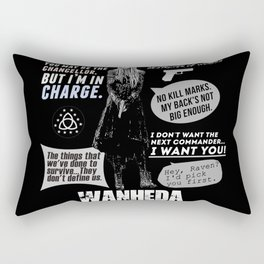 Clarke Griffin - Quotes The 100 Rectangular Pillow