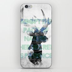 Adopt the pace of nature, her secret is patience iPhone & iPod Skin