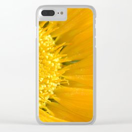 Yellow Daisy Clear iPhone Case