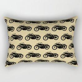 Antique Motorcycle // Tan Rectangular Pillow
