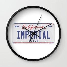 Imperial Beach. Wall Clock