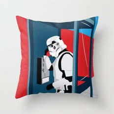 Stormtrooper Phone Home Throw Pillow