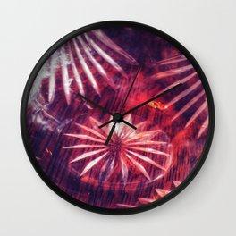 Faded Crystal Flower Wall Clock