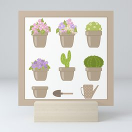 A wonderful design for those who are fond of plants , flowers . Mini Art Print