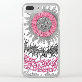 Transmission Lines Clear iPhone Case