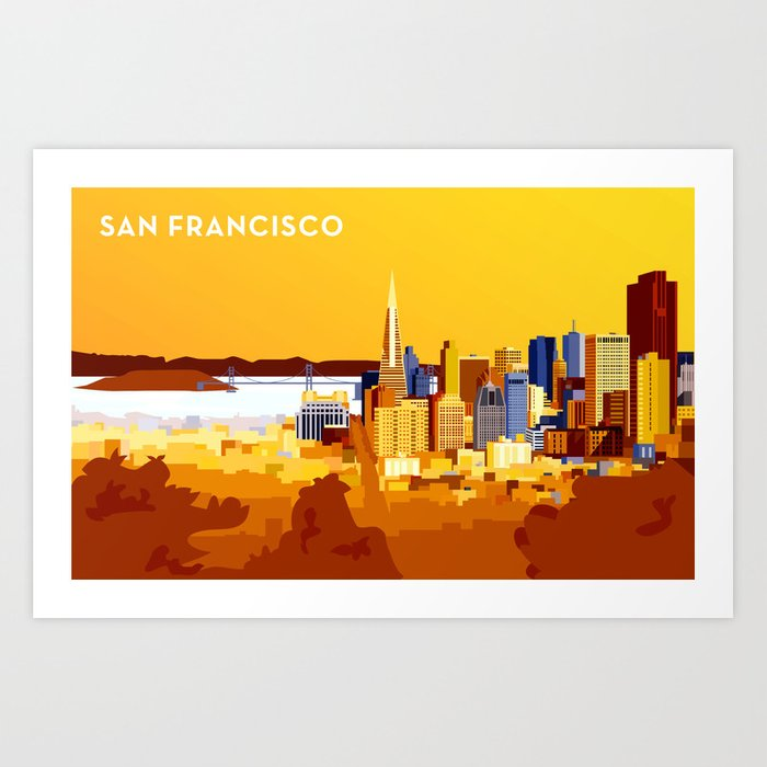 San Francisco on a sunny day Art Print