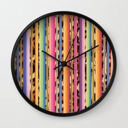 Modern serape and leopard print Wall Clock