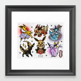 Eeveelutions Flash Sheet Framed Art Print