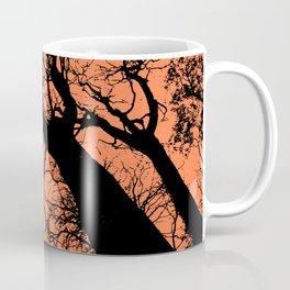 Trees orange bg Coffee Mug