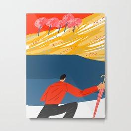 run in the rain Metal Print