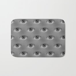 Pop-Art Black And White Eyes Pattern Bath Mat