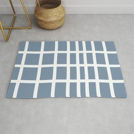 The Modern Square - Faded Denim Rug