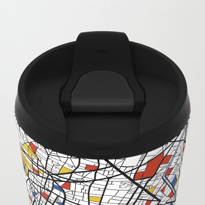 Paris Mondrian Metal Travel Mug
