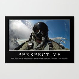 Perspective: Inspirational Quote and Motivational Poster Canvas Print