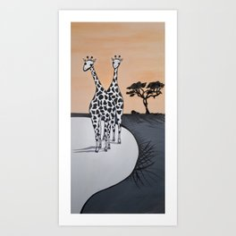 Perd & Kameel Art Print