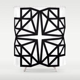 Estrella de copito Shower Curtain