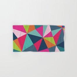 Geometric Triangle Pattern  - Spring Color Palette - Hand & Bath Towel
