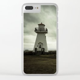 Solitary Lighthouse Clear iPhone Case