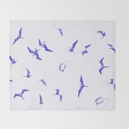 Blue seabirds by #Bizzartino Throw Blanket