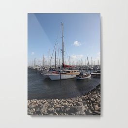 Sailboats at the Pier Metal Print