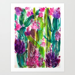 Fiesta Plants Art Print