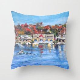 Boathouse Row, Philadelphia Throw Pillow