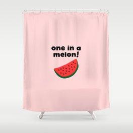Funny watermelon Shower Curtain