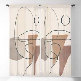 Minimal Abstract Shapes No.61 Blackout Curtain