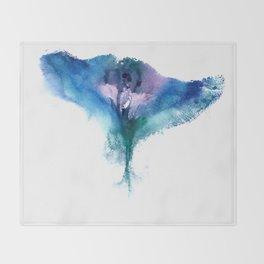Isabella's Vulva Flower Throw Blanket