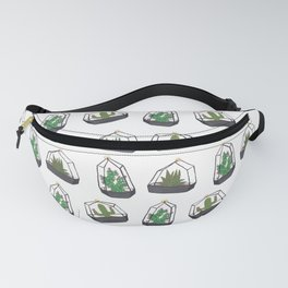 Cactus And Succulents Terrariums Fanny Pack