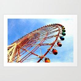 Odaiba Ferris Wheel, Tokyo Art Print