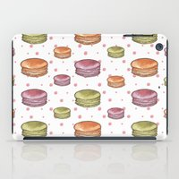 macaron iPad Cases featuring Macaron print by Fashion Doodles