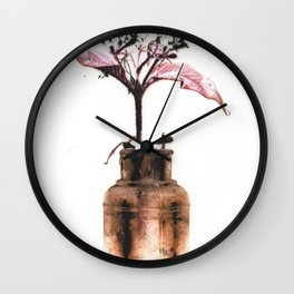 Ink well with flower Wall Clock