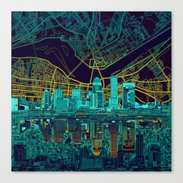 louisville skyline abstract Canvas Print
