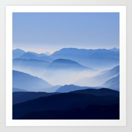 Mountain Shades Art Print