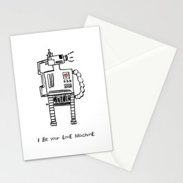 I Be Your Love Machine Stationery Cards