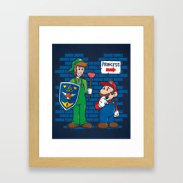 Your Princess is in Another Castle Framed Art Print