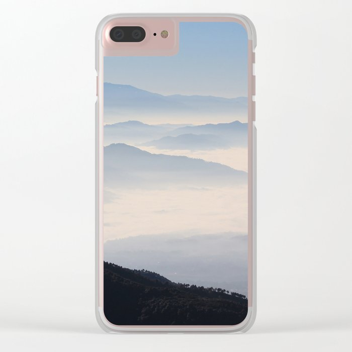 Blue Valley #mountains Clear iPhone Case