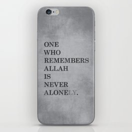 One Who Remembers Allah iPhone Skin